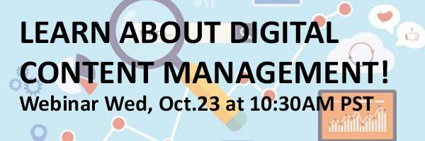 Digital Content Management Webinar